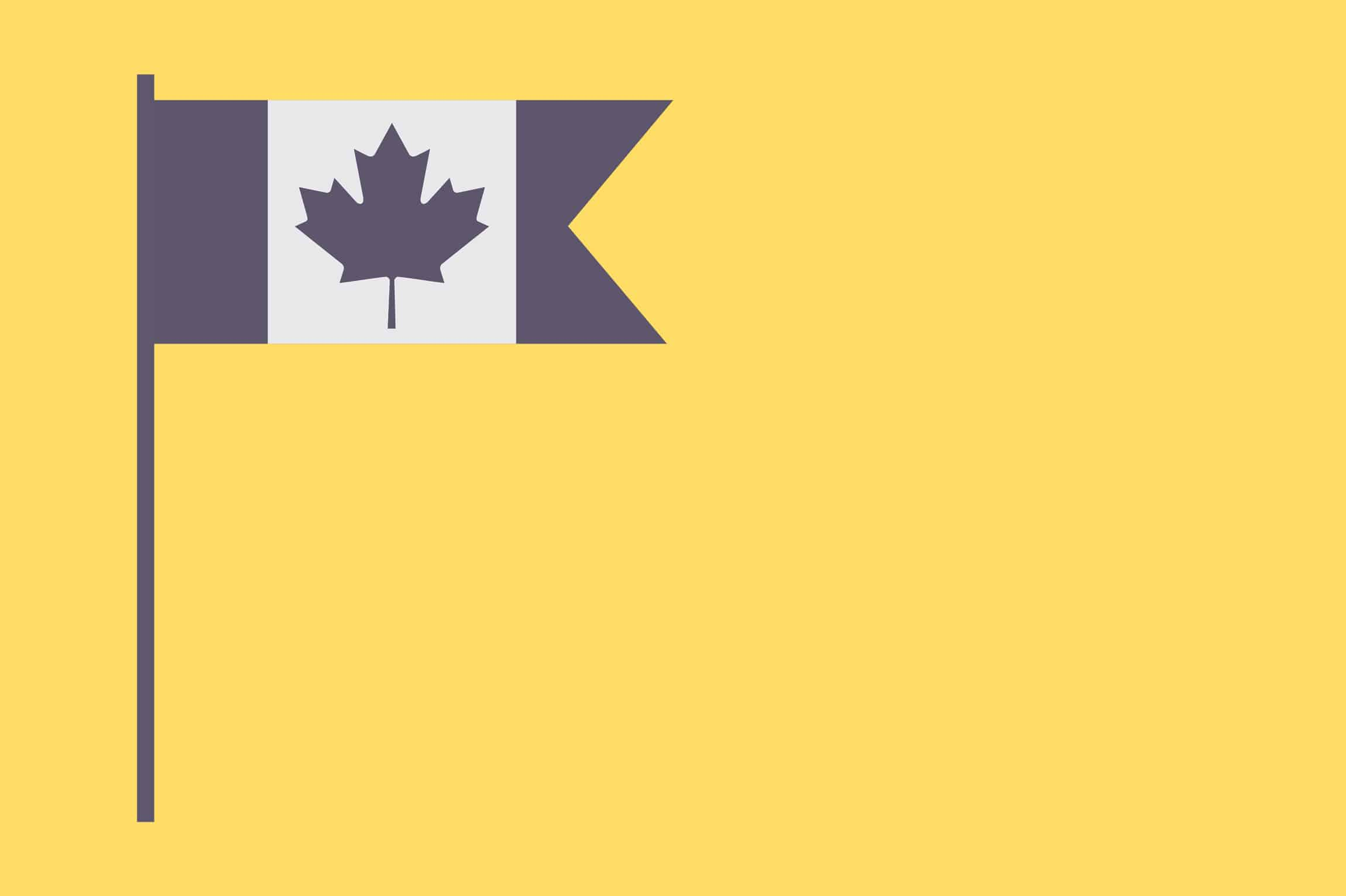 canadian flag - yellow
