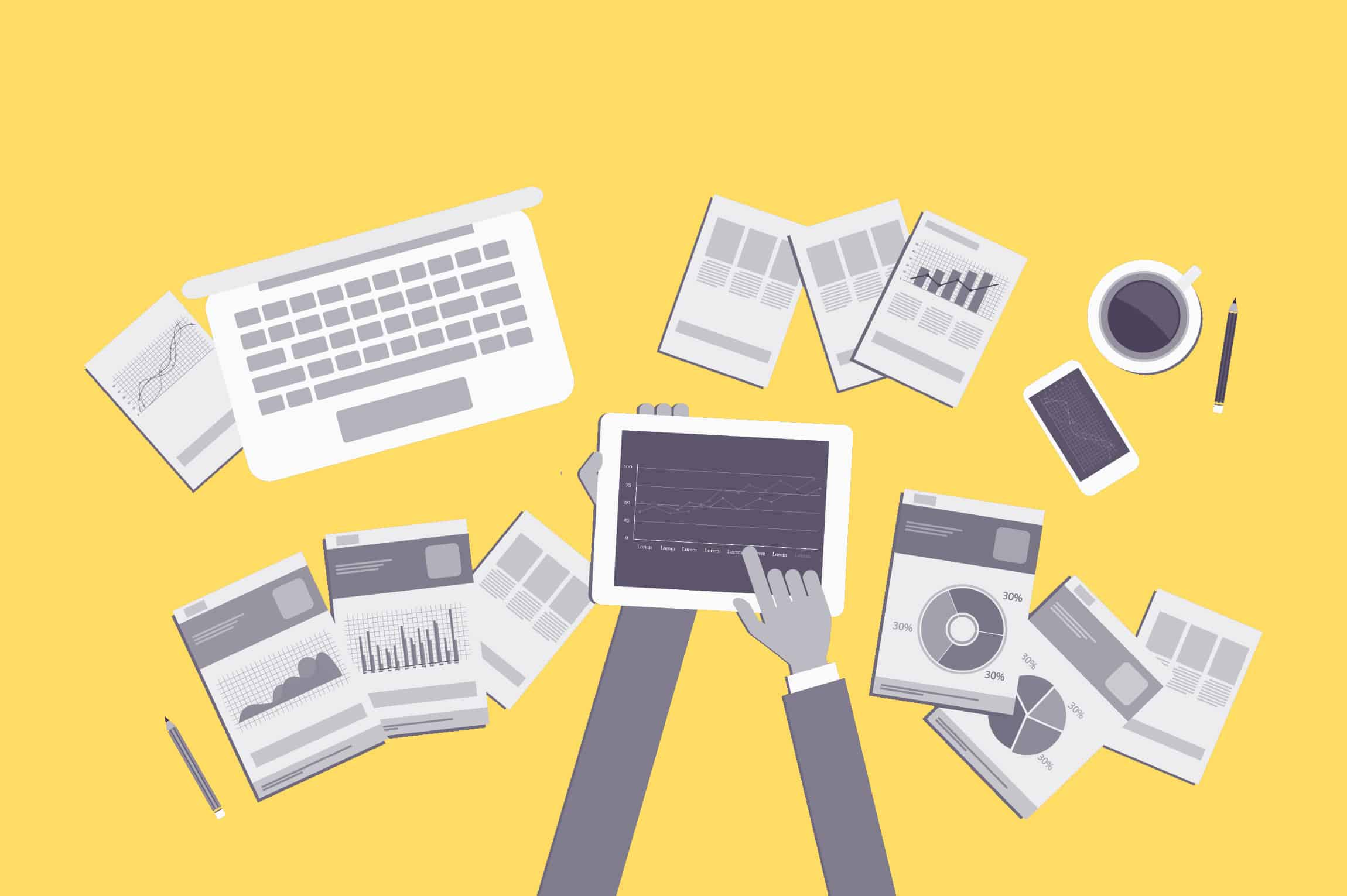 working tablet graphs yellow